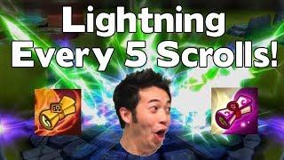 1 Lightning Every 5 Scrolls! - INSANE Summon Rates - Summoners War