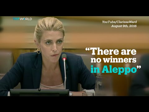 Clarissa Ward describes 'apocalyptic' scenes in Aleppo to UN Security