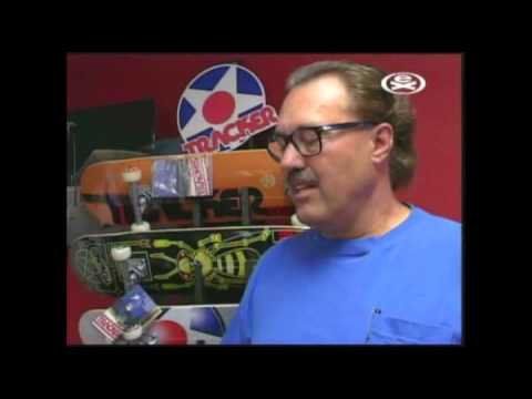 Larry Balma on Concrete Wave TV about Tracker Trucks , 2003