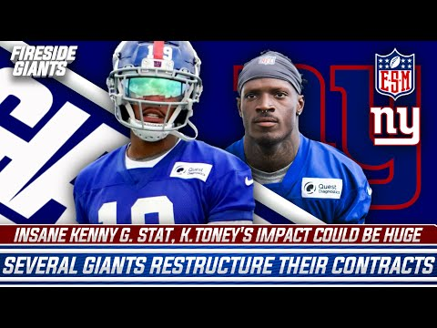 Insane Kenny Golladay Stat | Kadarius Toney's Impact | Several Giants Restructure Their Contracts