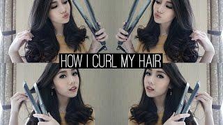 How To Curl Your Hair Using Flat Iron | Eva Rinjani