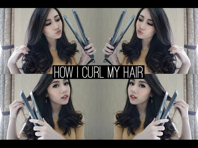 How To Curl Your Hair Using Flat Iron | Eva Rinjani