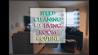 SPEED CLEANING MY LIVING ROOM FOR THE HOLIDAY, CLEANING MOTIVATION, SAHM CLEAN WITH ME
