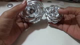 Dicas Flor boleada feita com lame e cetim bucol