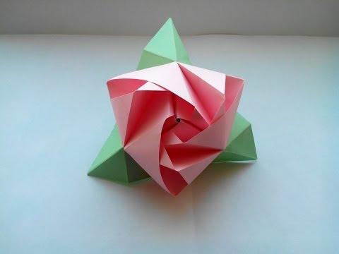 Поделки из бумаги розы схемы