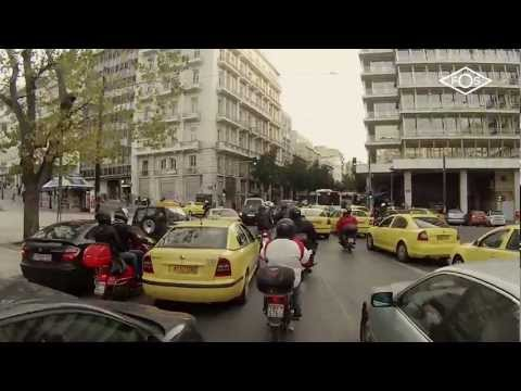 stuck in traffic downtown Athens, January 23