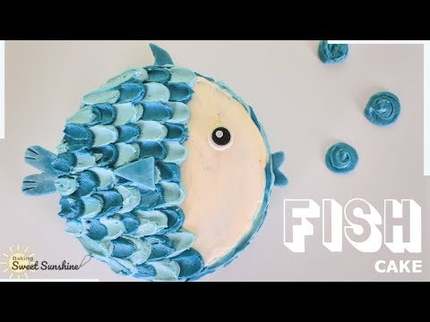 How To Make A FISH CAKE | Baking Sweet Sunshine