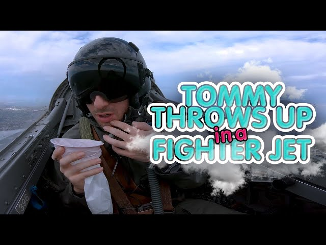 Tommy Throws Up In A Fighter Jet | Carrie & Tommy