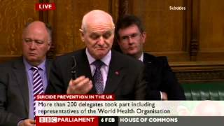 William McCrea Proposes Suicide Prevention Debate in Parliament