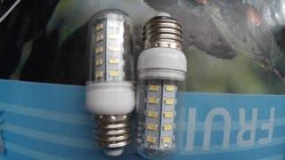 посылки из китая 8 led bulbs 12 w светодиодные лампы обзор сравнение с другими лампами