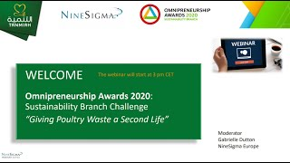 Omnipreneurship Awards 2020: &quotGiving Poultry Waste a Second Life&quot   Webinar Recording