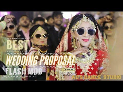 Best Wedding Flash mob   Proposal   Most Dashing bride Dance & Extra ordinary entry