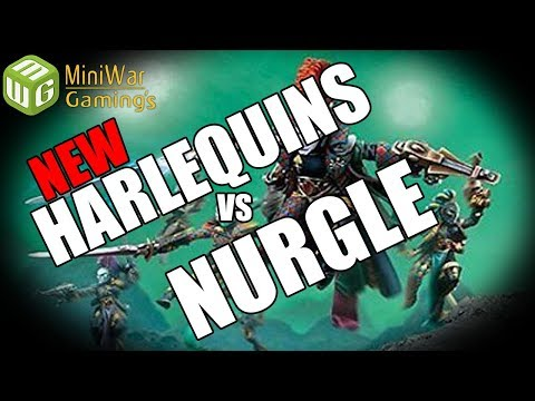 New Harlequins vs Death Guard Warhammer 40k 8th Edition Battle Report Ep 119