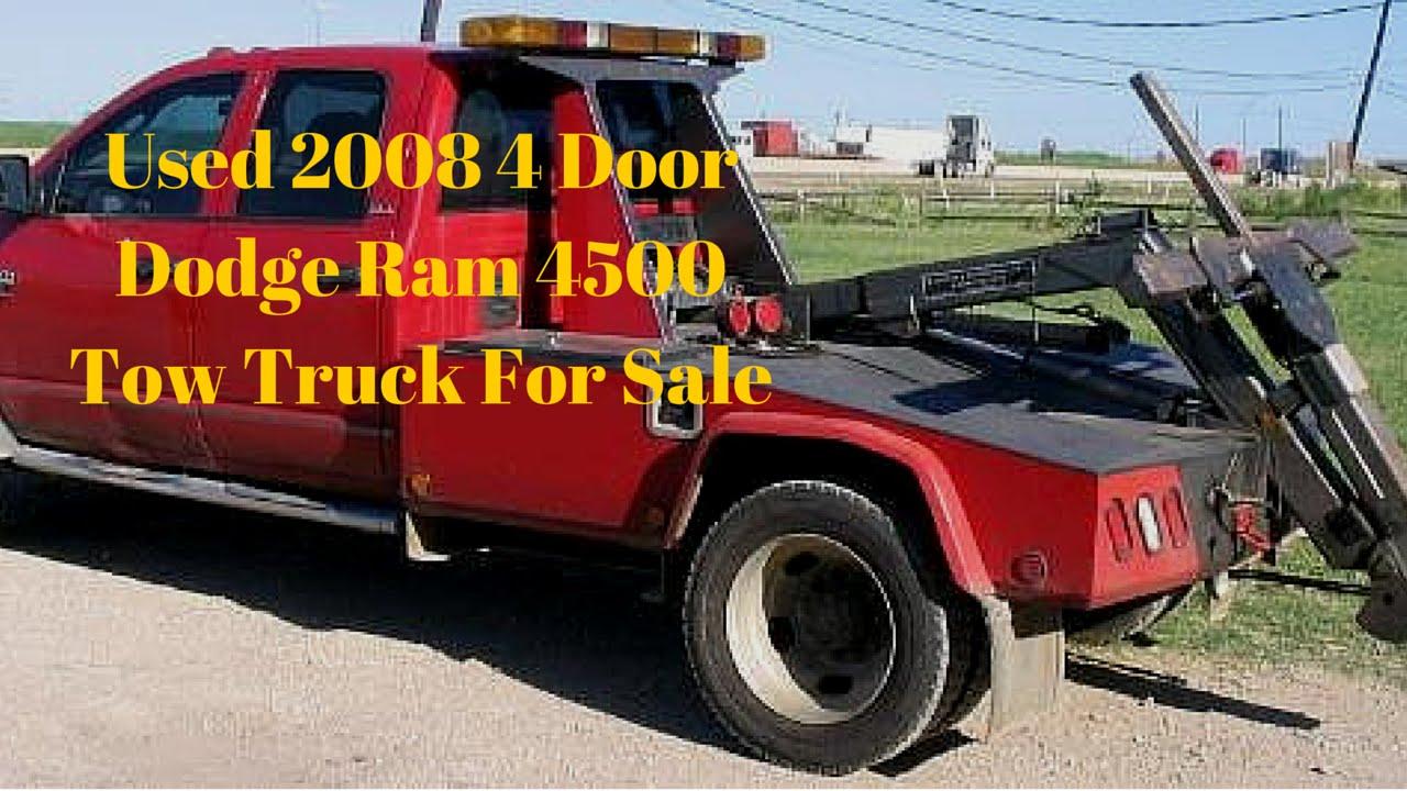 Used 2008 4 Door Dodge Ram 4500 Tow Truck For Sale Youtube