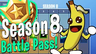 Fortnite Season 8 passe de batalha! Todas as recompensas mostradas!