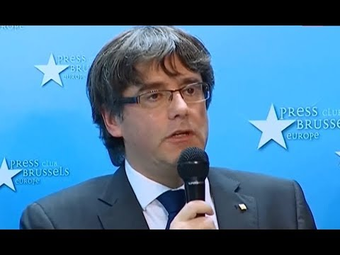Q&A: Catalonia leader Carles Puigdemont press conference in Brussels (31 Oct 2017)
