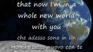 A Whole New World - Aladdin(Peabo Bryson & Regina Belle) Testo + Trad.