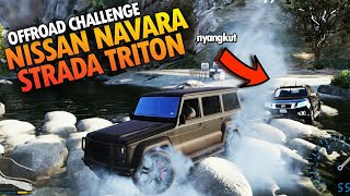 GTA 5 NISSAN NAVARA VS STRADA TRITON 4x4 OFFROAD CHALLENGE!!!