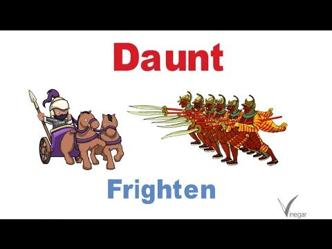 Dauntmeaning In English And Hindi With Usage  Youtube