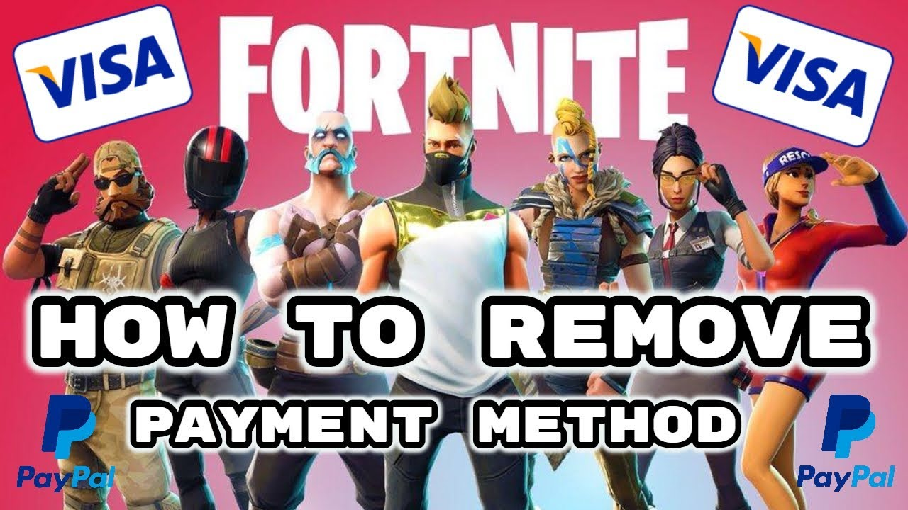 How to remove credit card from fortnite