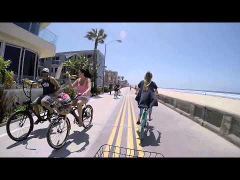 Boardwalk Bike Ride down Mission Beach San Diego CA