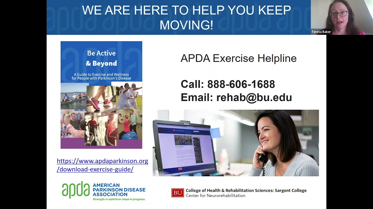Check out this APDA Let's Keep Moving Webinar- Exercise Intensity