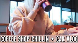 coffee shop working, errands + car vlog! | VLOGMAS DAY 11