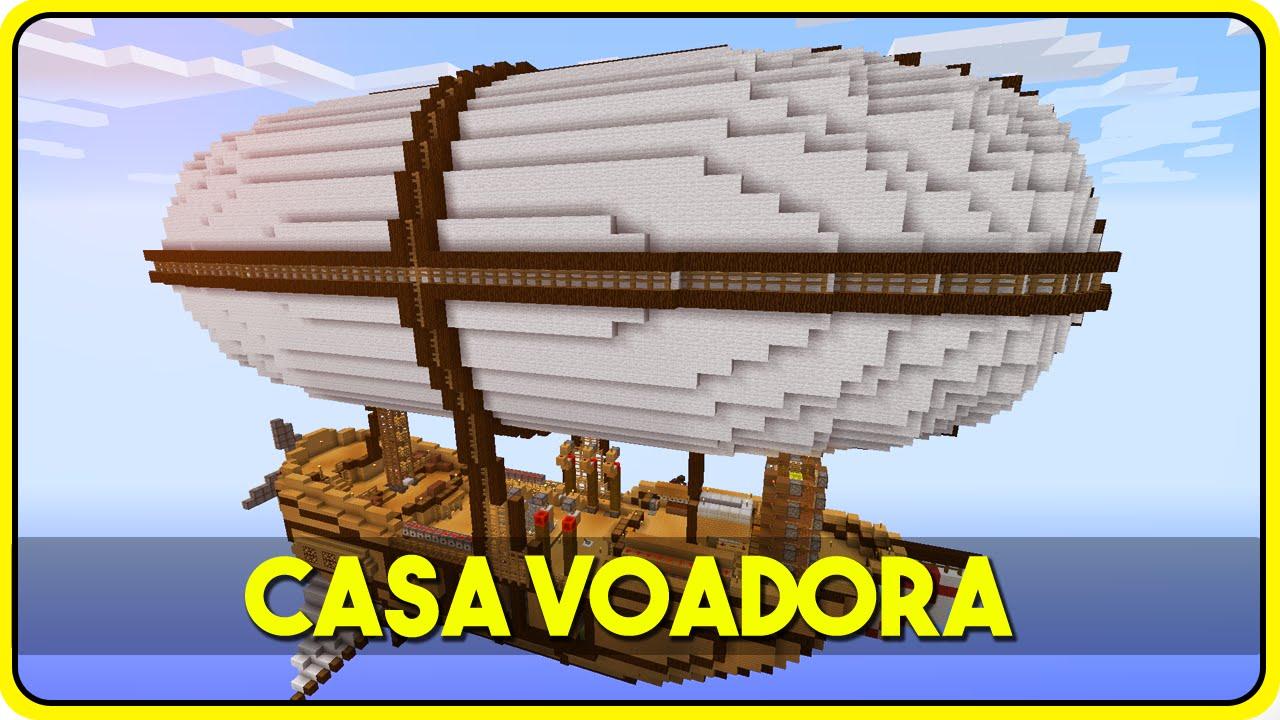 Minecraft A Casa Autom Tica Voadora Que Gera Itens