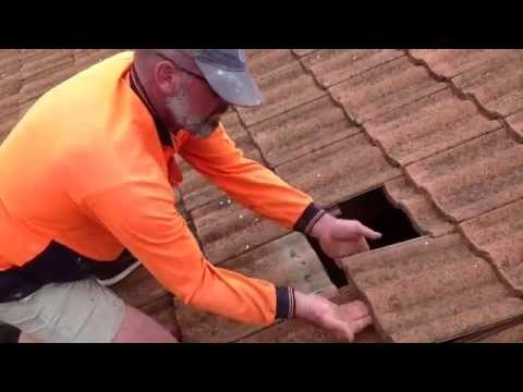 How to replace roof-tile, how to replace broken roof tile