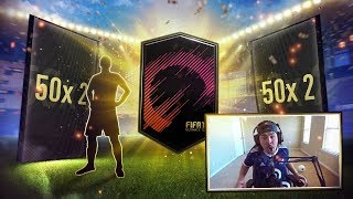 50 x 2 PLAYER PACKS! SICK WALKOUTS! FIFA 18 PROMO PACKS