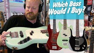 Which Bass would I buy? - Harley Benton Vs. Fender Mustang Bass Vs. Dano Longhorn - #tgu19.