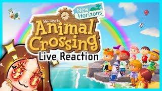 Animal Crossing New Horizons E3 Treehouse Reaction - MissFushi