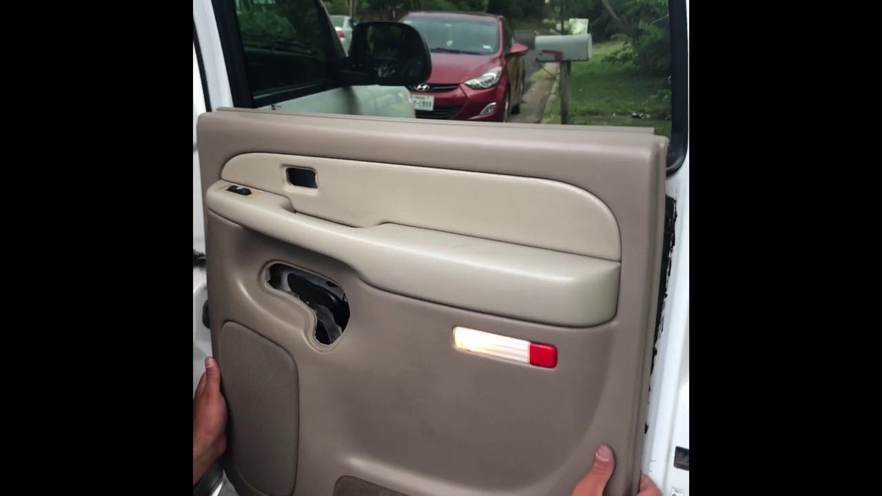 How To Take Off Rear Door Panels On A 2000 2006 Tahoe Youtube