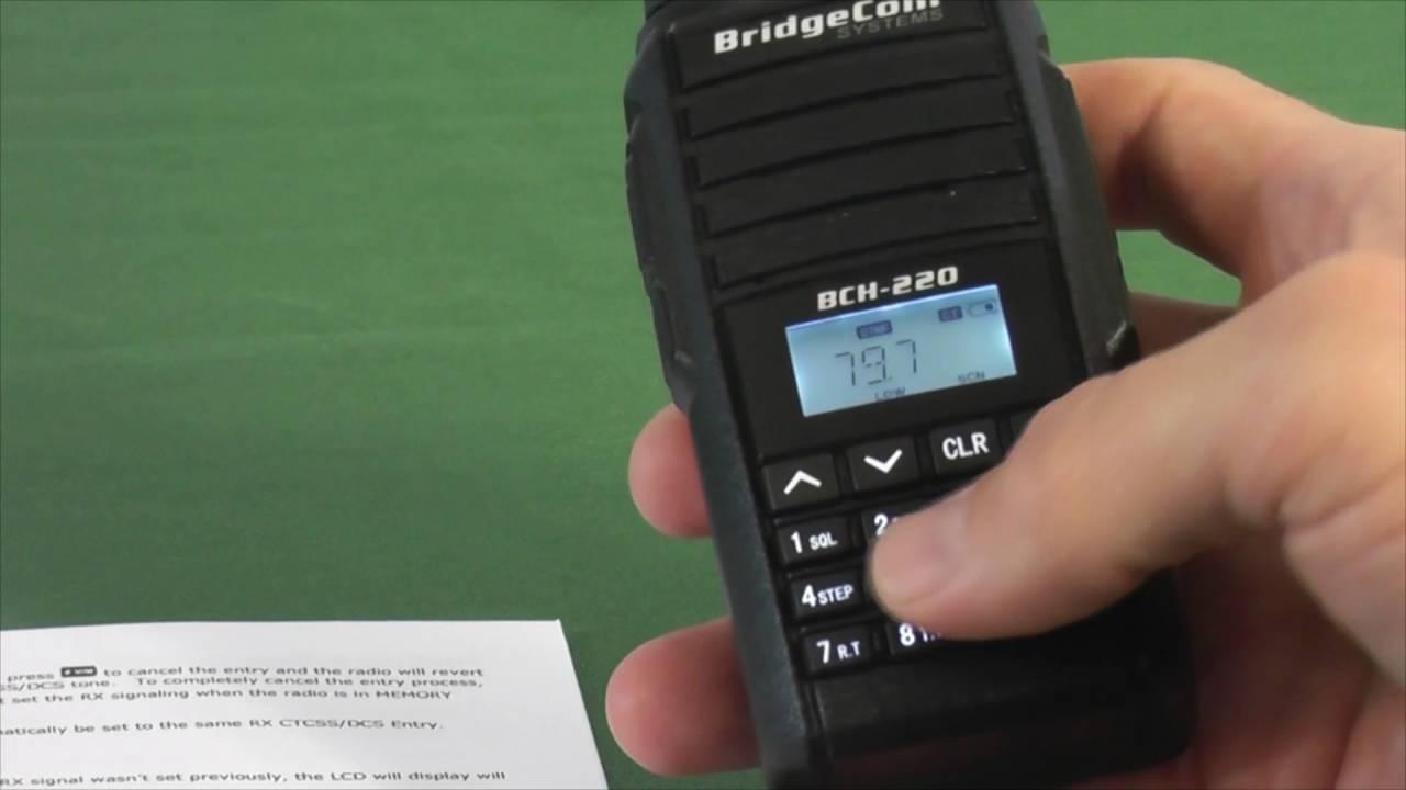 BridgeCom BCH-220 HT, BCM-220 Mobile, BCR-220 Repeater & BCD-220