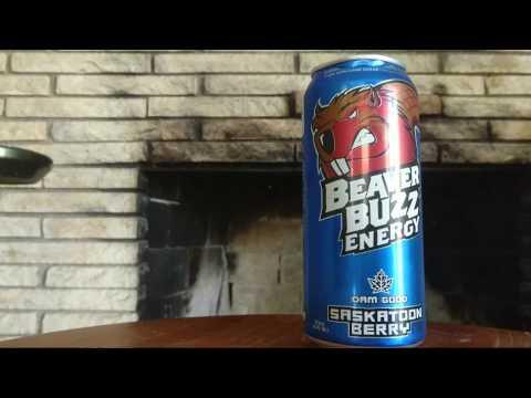 Beaver Buzz Saskatoon Berry Canadian Energy Drink Review