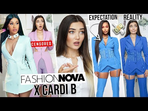 I SPENT $400 ON CARDI B X FASHION NOVA CLOTHING... IS IT WORTH IT!?