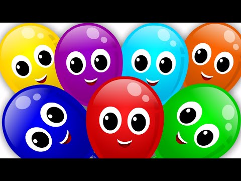 balloons color song | rainbow colors song | nursery rhyme | learn colors