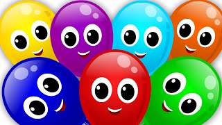 balloons color song rainbow colors song nursery rhyme learn colors  kids tv S02 EP0157