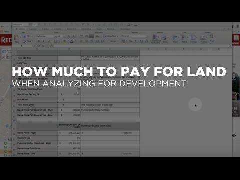 How Much to Pay Land for New Development - Real Estate Investment