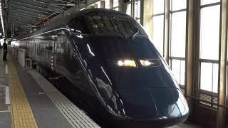 〔4K UHD cc〕JR東日本・上越新幹線:新潟駅、E3系700番台『とき-現美新幹線-号』出発シーン。