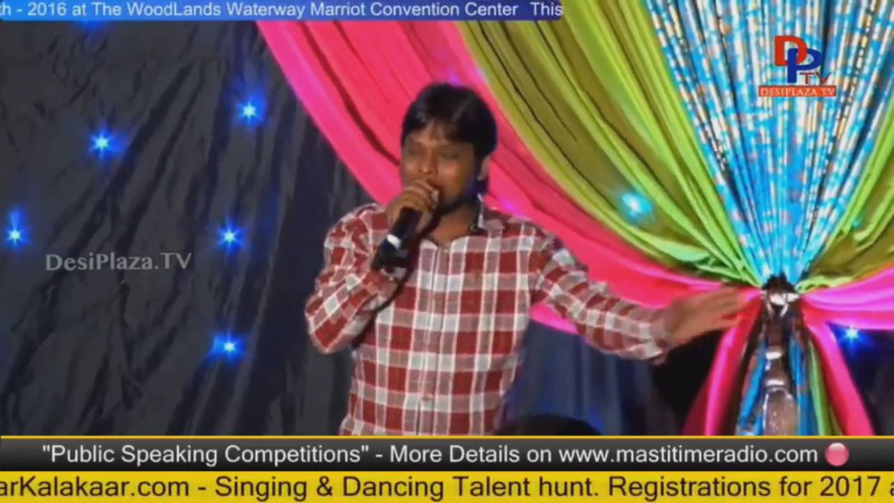 Imitation Raju performing at Telugu Cultural Association Houston - Convention 2016