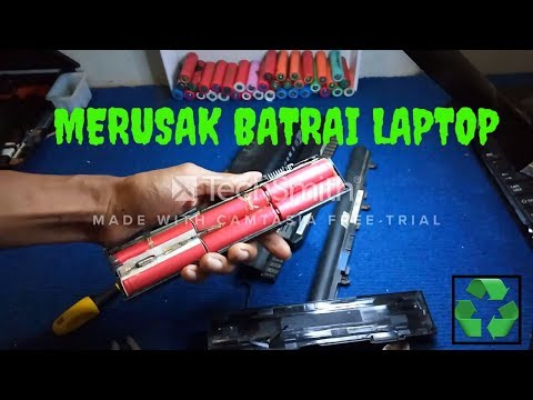 recycle 18650 Lithium Ion cell from old laptop battery pack