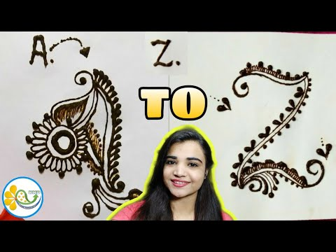 A to Z compilation alphabet mehndi design - A to Z name