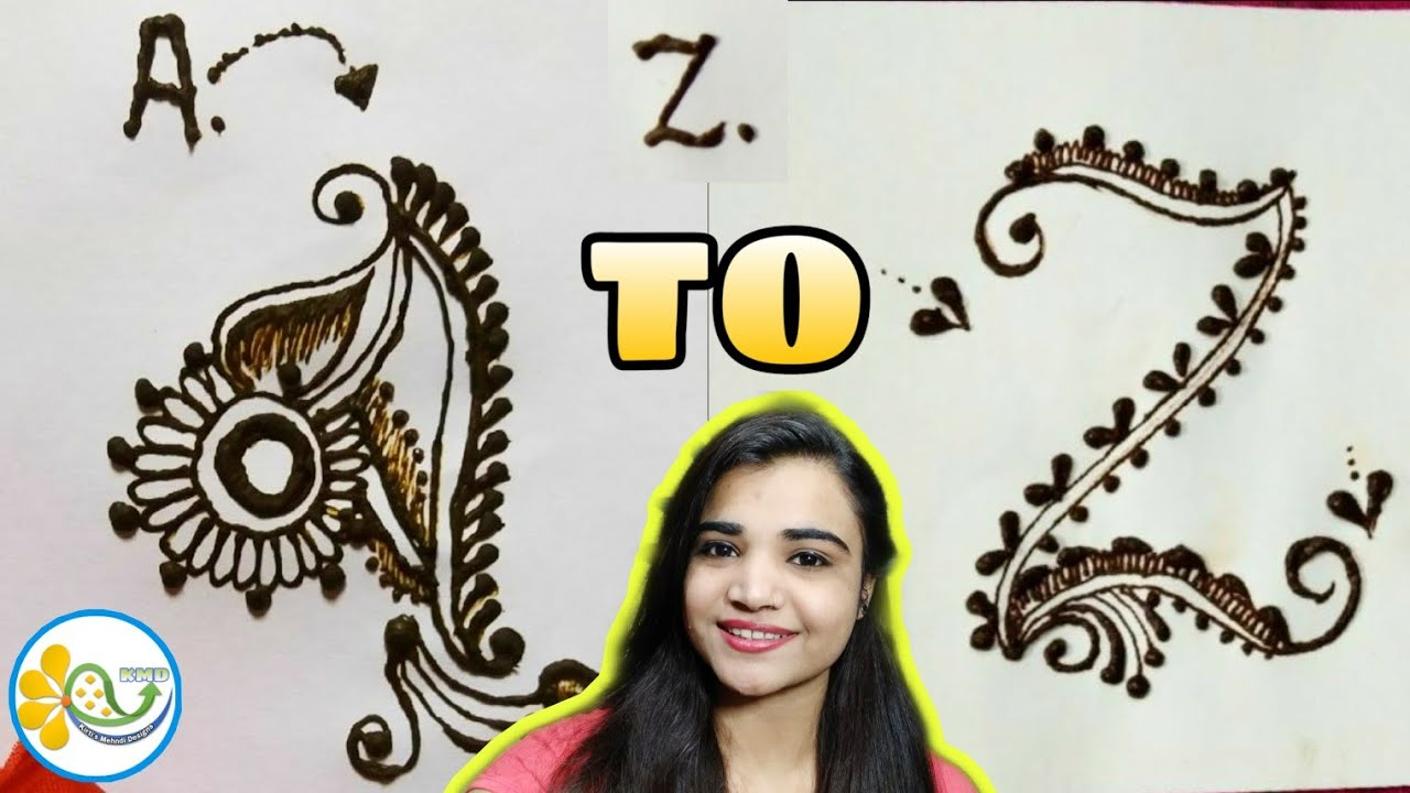 A to Z compilation alphabet mehndi design - A to Z name mehndi | full  compilation