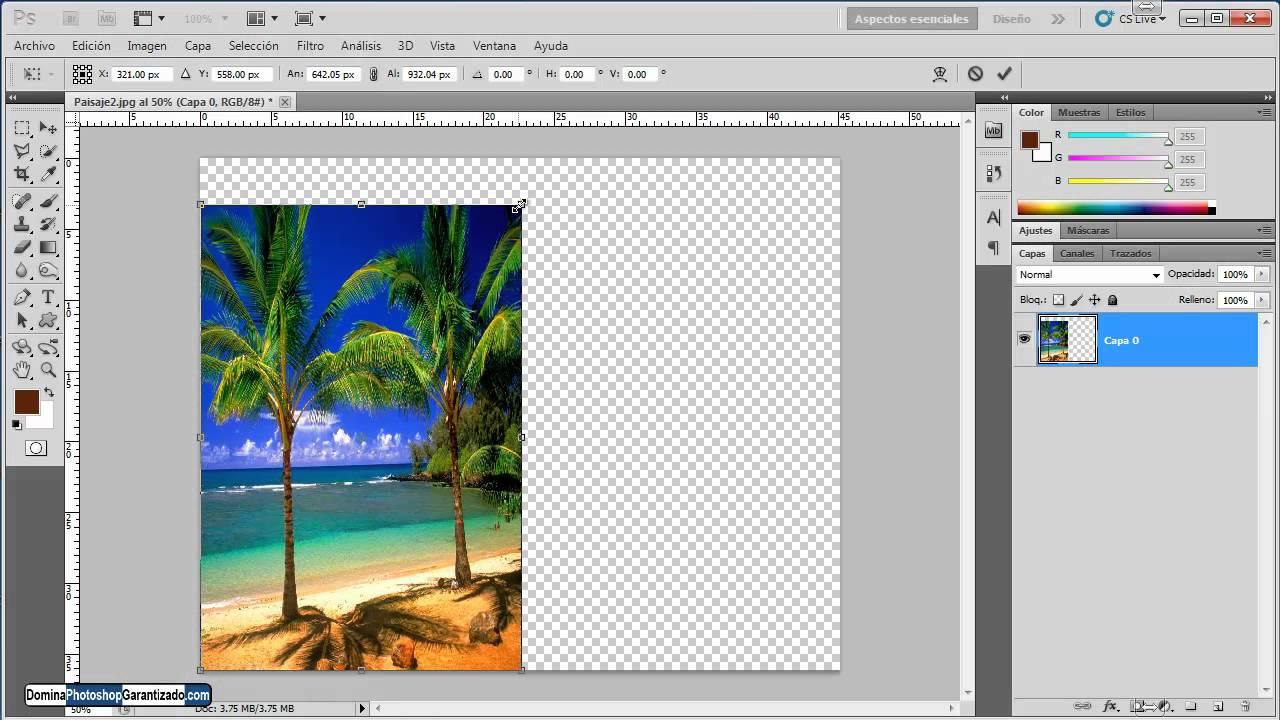 Redimensionar el tamaño de una imagen - Tutorial de Photoshop - YouTube