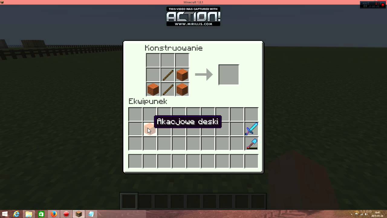 Poradnik 1 Jak Zrobić Akacjowy Płot W Minecraft 1 8 1