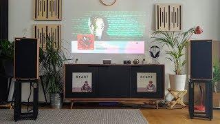On the wall: Roon & SoundCloud (& YouTube & Netflix)