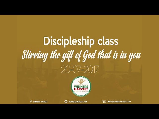Stirring the gift of God that is in you 20 09 2017