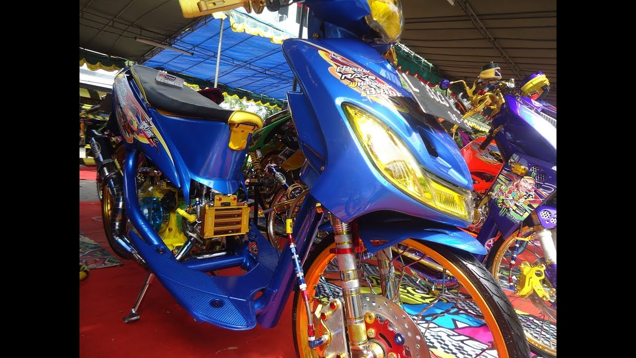 Modif Motor Mio Sporty Warna Biru Otomotif Modifikasi Indonesia