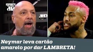 """""""O Neymar NÃO É SANTO!"""", dispara narrador após amarelo por LAMBRETA!"""